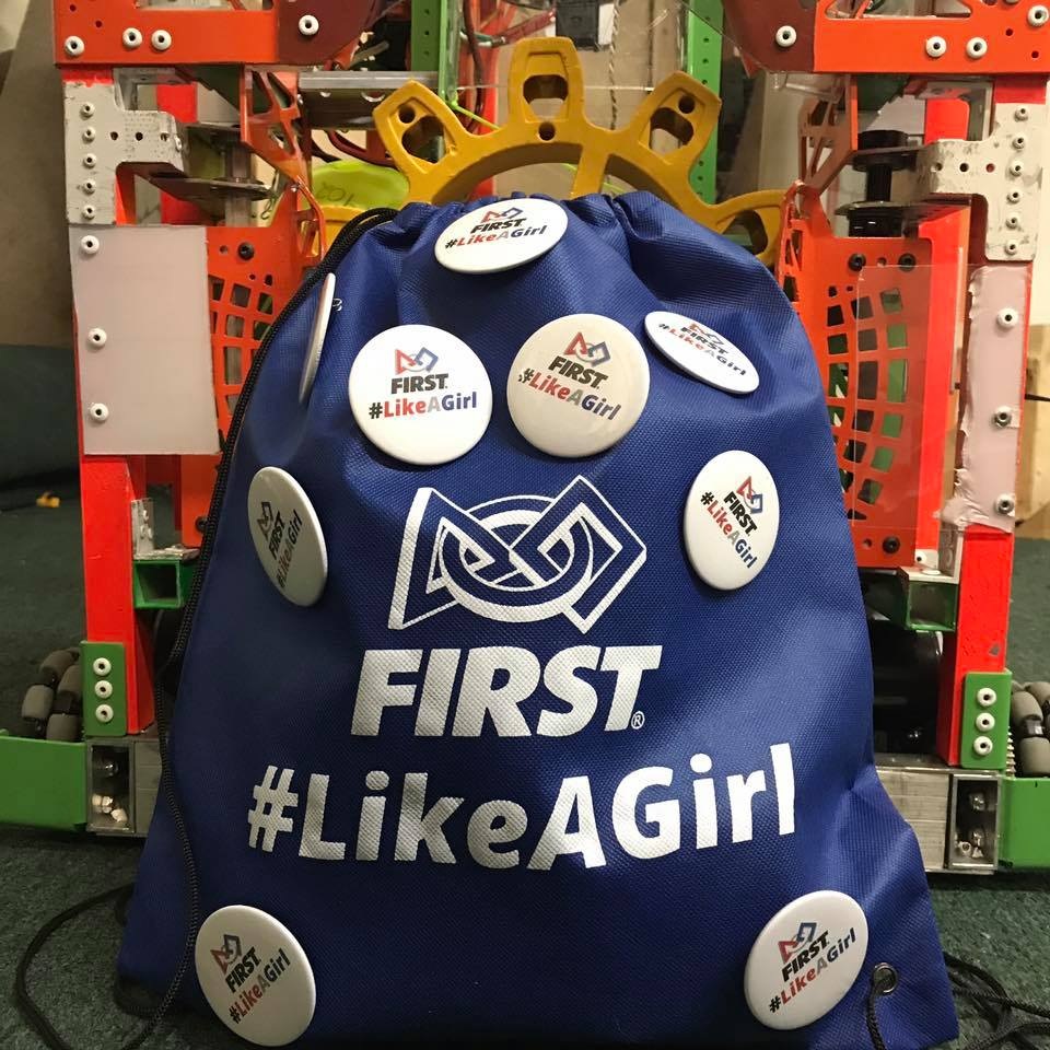 5,000 #FirstLikeAGirl buttons at 2017 Champs!